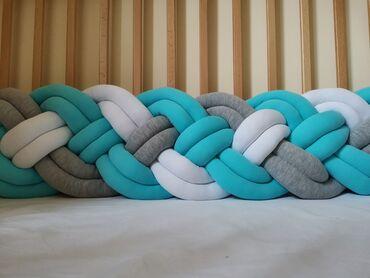 Nameštaj - Pancevo: Pletenica sa četiri dupla kraka, napravljena od pamuka sa elastinom i