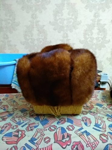 Шапка норковая б/у в Бишкек