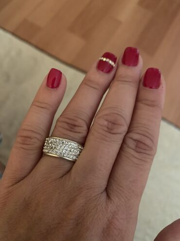 Серебро 925, Сваровски, кольцо 16 размер