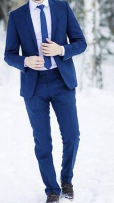 Синий классический костюм Bosser LUX в Бишкек