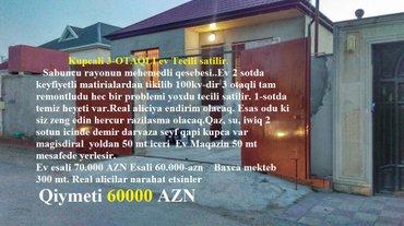 Bakı şəhərində Kupcali 3-OTAQLI ev Tecili satilir.