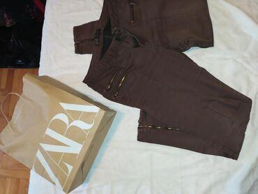 Farm-broj - Srbija: Zara original pantalone bez tragova koriscenja L velicina