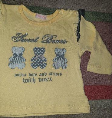 Pamuk bebi zute boj - Srbija: Dux - zuta dukserica za bebe devojcice. Zute boje 68 cm