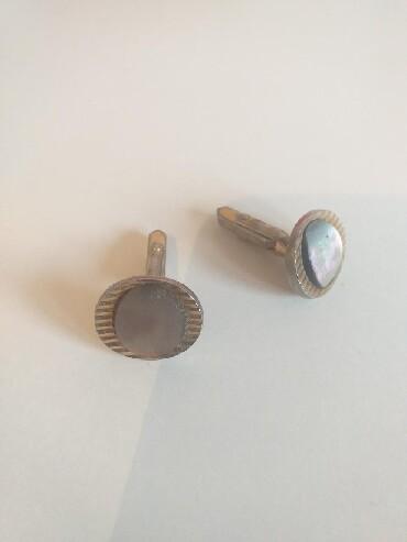 Dugmad za manzetne - Srbija: Vintage dugmad za manžetne ovalnog oblika