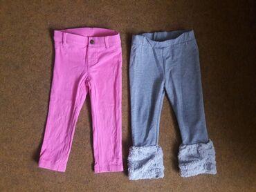 Carters roze pantalone 24 i sive Waikiki helanke 12 -18 Deblje Carters