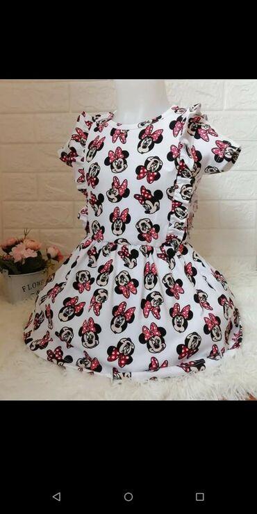 Pamucna Mini haljinica, sa elastinom. Kroj kraci, vodite se merama