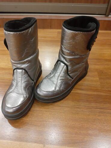 rolls royce silver spur в Кыргызстан: Сапоги стильные, зимние, 'silver boots', состояние отоичное, размер