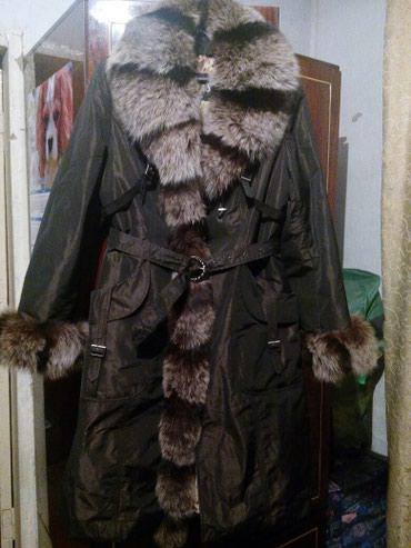 Пальто, зима-осень, натуральный мех, в Бишкек