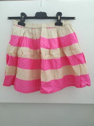 Prelepa suknja širi se prema dole vel 4-6, obim struka bez istezanja
