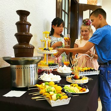 Шоколадный фонтан на свадьбу, детский в Бишкек