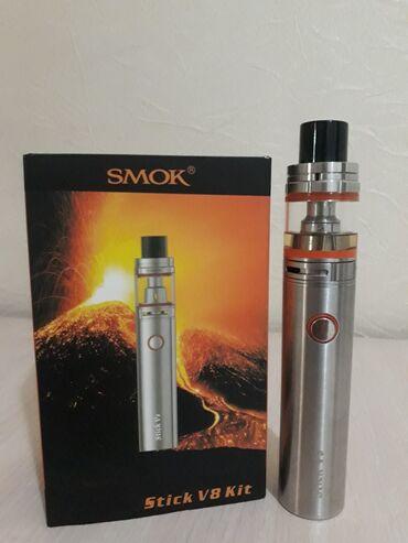 Продаю Отличный Вэйп SMOK Stick V8 Kit Почти новый! С жидкостью 70/30