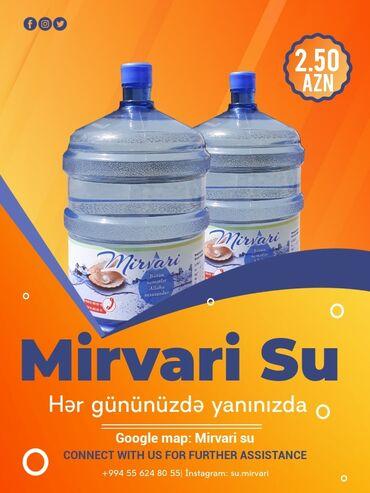 su baki - Azərbaycan: Ofislərə və Mənzillərə pulsuz çatdırılmaBakı-SumqayıtMirvari su təbii