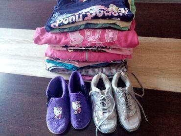 Dečija odeća i obuća - Smederevska Palanka: Paket za devojcice br 6 garderoba ocuvana, patike br 29 ali manji