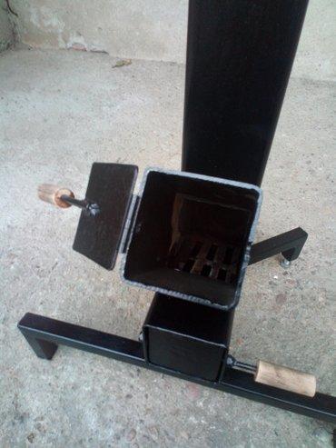Pec - Srbija: Raketna pec! Raketna pec je izradjena od kvadratnog celicnog profila