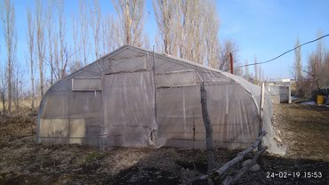 спринклер для полива полей в бишкеке в Кыргызстан: Продается теплица (без места), с системой отопления и поливом. метал