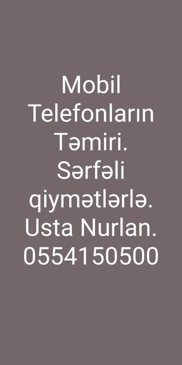 Bakı şəhərində Telefon ustası Nurlan