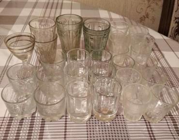Стеклянные стаканы - Кыргызстан: Стаканы разные, 30шт цена за все *300* сом