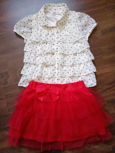 Komplet očuvane garderobe za devojčice, veličina 4-5