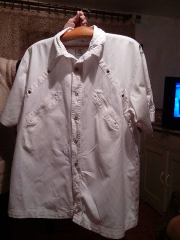 Muška bela  pamucna košulja vel 41/42 - Krusevac
