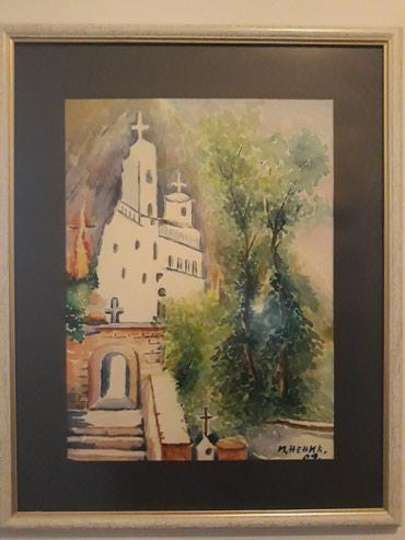 Slika akvarel-manastir Ostrog - Nis