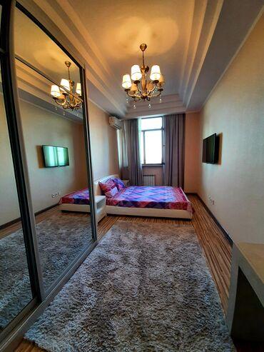 квартиры суточные in Кыргызстан | ПОСУТОЧНАЯ АРЕНДА КВАРТИР: 2 комнаты, Душевая кабина, Постельное белье, Кондиционер, Без животных