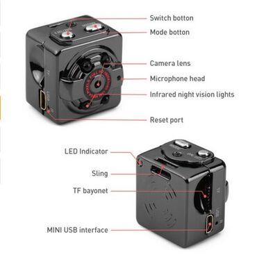 Фото видеокамера - Кыргызстан: PC видео регистратор камера DV SQ8 поддерживает карты памяти MicroSD