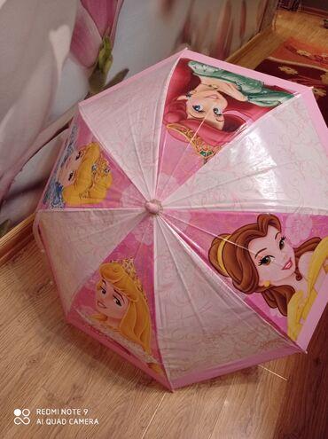 зонт в Кыргызстан: Детский зонт с принцессами.Состояние отличное.Подойдёт для ребенка