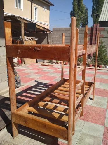 Двуспальные кровати - Кыргызстан: Продаю 2-ух ярусную детскую кровать