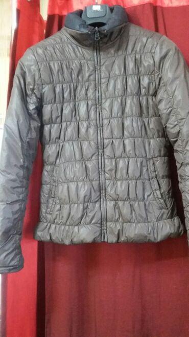 r 44 46 в Кыргызстан: Куртка демисезонная женская,44-46 размер,двухсторонняя ( коричневая -