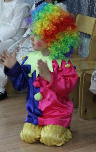 Клоун. Новогодний костюм. 4-6 лет. В комплекте рубашка, штаны
