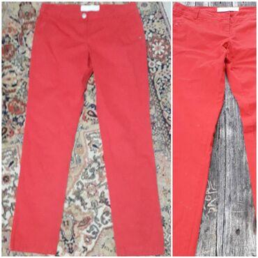 W40 - Srbija: S Oliver crvene pamučne pantalone, bez elastina, vel W40/L34, struk