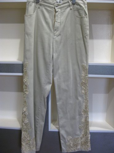 Женские брюки в Кара-Балта: Брюки BOLAIJUE с кружевами Б/У (состояние смотри на фото) Размер - 50