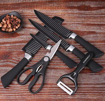 Ножи - Кыргызстан: EVERRICH 6pcs / set Набор кухонных ножей Профессиональные ножи для