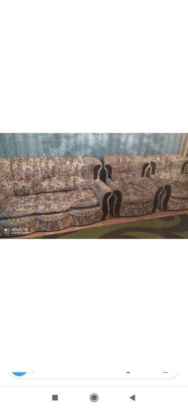Divan kreslol birlikde 90 m divan acilir bazalidi unvan kesle