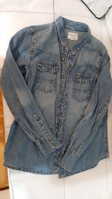 Original Pull&Bear teksas košulja ženska,očuvana kratko nošena