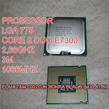 Prosessor (CPU) E7300 Core 2 Duo в Баку