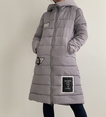 Продаю куртки на девочку 12-14 лет. Серая -1500 сом, синяя-700 сом