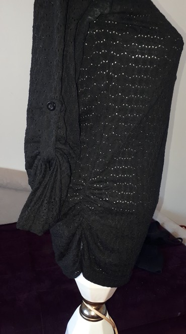 Pamucna crna kosulja S/M  - Kraljevo