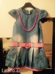 Vovchansk şəhərində Джинсовое платье Турция б/у фасон низ фанарик на 5/6лет в отличном сос