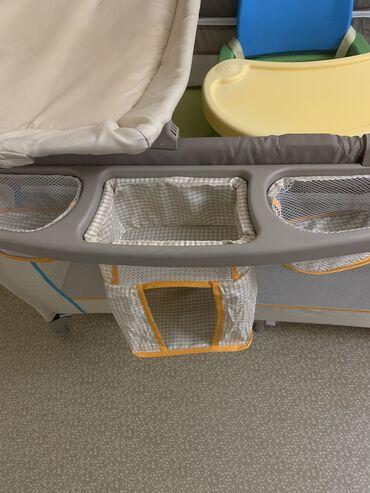 Продаётся кроватка манеж складная производство Германия детский стул