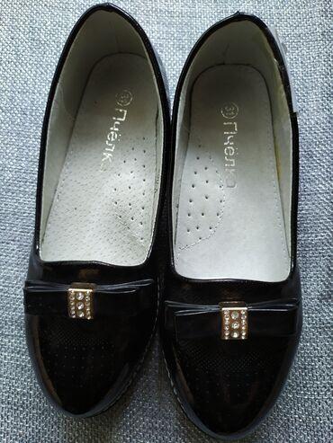 Туфли на девочку лак черные новые последние размеры распродажа размер