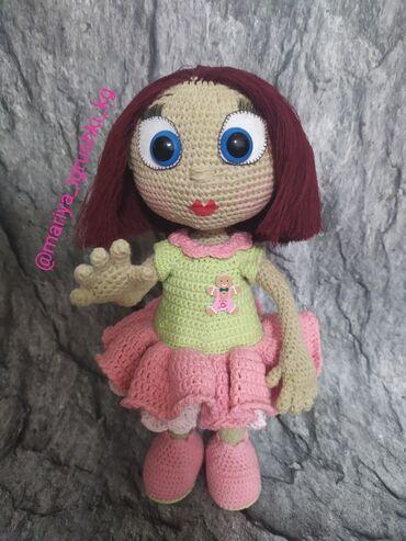 Кукла Алиса готова найти новую хозяйку, нитки хлопок Турция