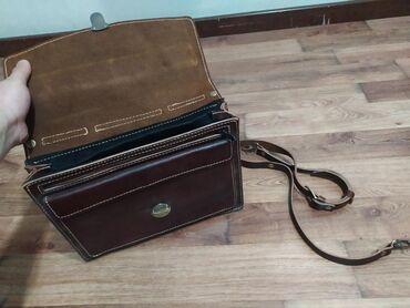 Новый портфель кожаный. Натуральная толстая кожа. Размер примерно на
