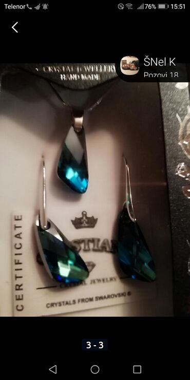 Jewellery Sets - Srbija: Original SWAROVSKI SET NOVO POGLEDAJTE MOJE OGLASE IMA PUNO