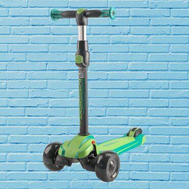 Новый детский самокат с светящимися колёсами Tech Team Surf Boy