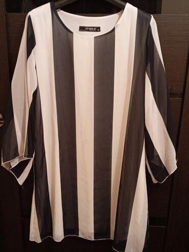 срв бишкек цена в Ак-Джол: Платье на полосках :новые турецкие 46 размер