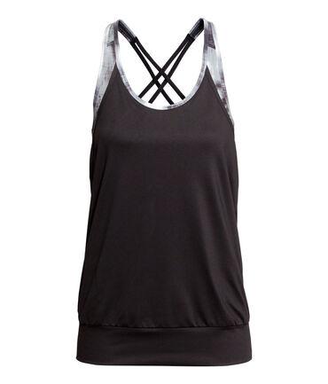 Спортивный топ H&M из быстросохнущей функциональной ткани с глубок