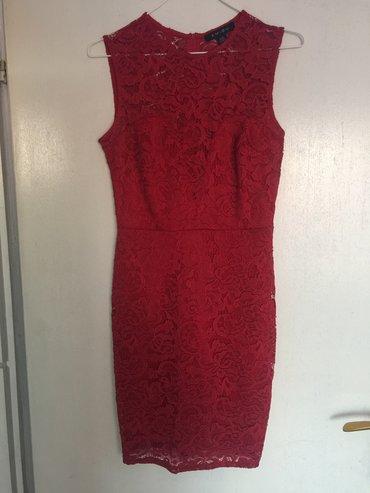 Haljina crvena nova,rastegljiva,broj 38