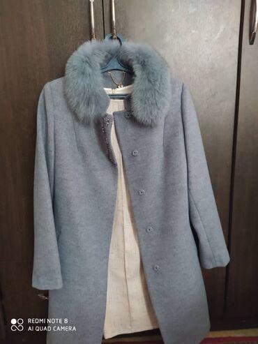 женское пальто в Кыргызстан: Пальто женское новое одевалось только один раз размер 48 брали за 7000