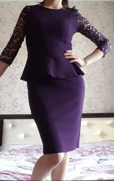 Платье с баской, в отличном состоянии. Отлично скрывает живот